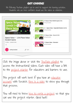 The Video Tutorials: Space Value (L5-6 Place Value) - Teach maths via Scratch