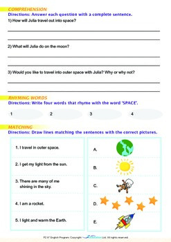 Space - Visiting Outer Space - Grade 2