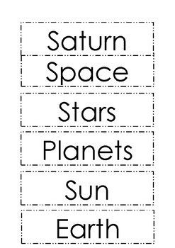 Space Vocab Cards