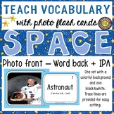 Space 30 Flash Cards: Photo front and Word back