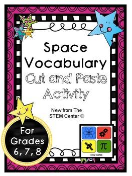 Space Vocabulary Activity