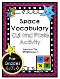 Space Vocabulary Activity