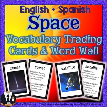Space Trading Cards and Word Wall