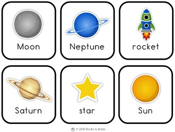 Space Vocabulary Cards & Write-the-Room