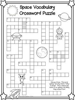Solar System Word Puzzles