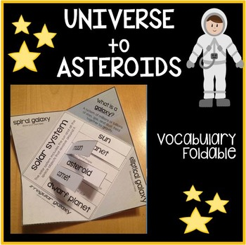 Space Vocabulary Foldable Activity