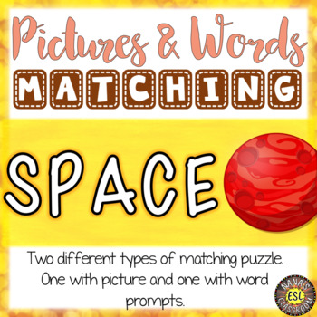 Space ESL Activities Picture and Definition Matching Puzzles