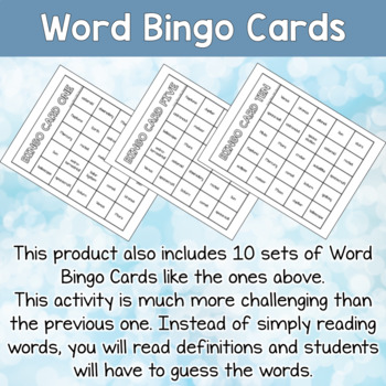 ESL bingo game about Space for teens