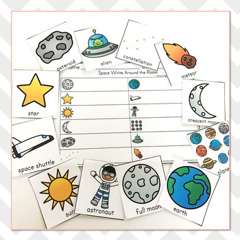 Space Vocabulary Practice - Write The Room