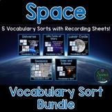 Space Vocabulary Sort Bundle