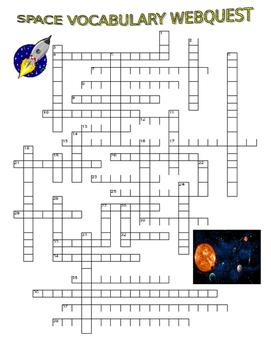 Space Vocabulary (Webquest Crossword Puzzle)