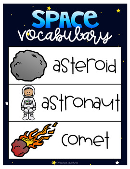 Space Vocabulary Word Wall Posters