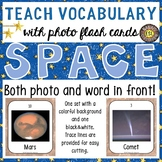 Solar System and Outer Space Photo Flash Cards Photo and Word in Front