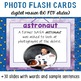 Space 30 Digital Flash Cards with Sample Sentences