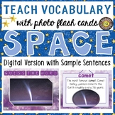Solar System and Outer Space Digital Photo Flash Cards with Sample Sentences