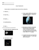 Space Vocabulary Worksheet/Test