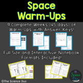 Space Warm-Ups (Bell Ringers)