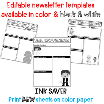 Star Wars Editable Newsletter - 6 templates
