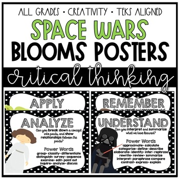 Space Wars Bloom's Taxonomy Posters