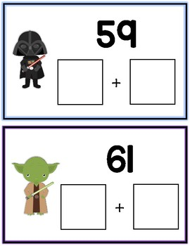 Space Wars Expanded Form Math File Folder Game Place Value Tens & Ones