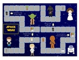 Space Wars Math Folder Game - Common Core - Telling Time Half Hour Hour
