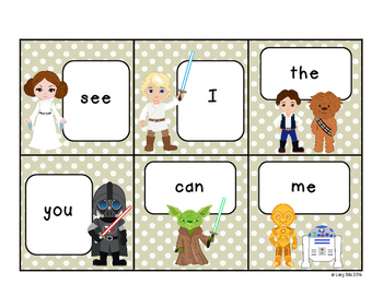 Space Wars Sight Words