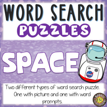 Space ESL Word Search Puzzles
