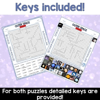 Space ESL Activities Word Search Puzzles