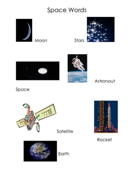 Space Word Wall List