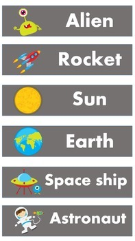 Space Word Wall Words