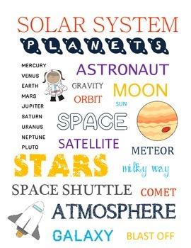 Space Words Subway Art