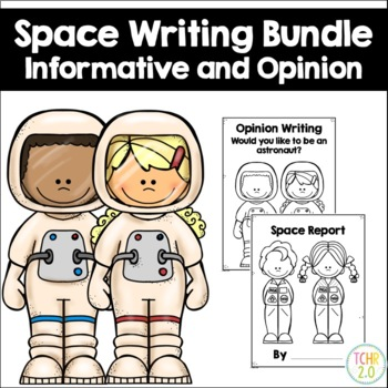 Space Writing Bundle Astronaut Opinion Planet Moon Report