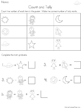 Graph and Tally Poster Set: Space Pictures