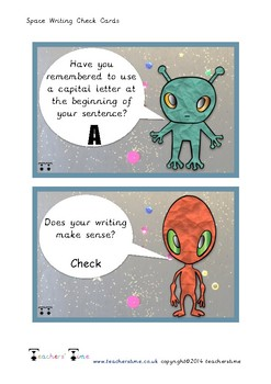 Space Writing Checklist