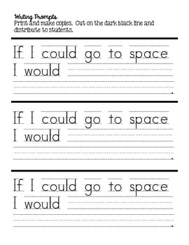 Space Writing Prompt and Craftivity