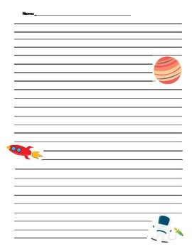 Space Writing paper