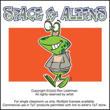 Alien Creatures Cartoon Clipart In Vector Format - FriendlyStock