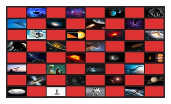 Space and Astronomy Legal Size Photo Checkerboard Game