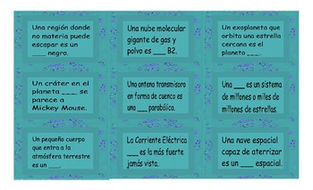 Space and Astronomy Spanish Card Game