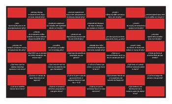 Space and Astronomy Spanish Checker Board Game