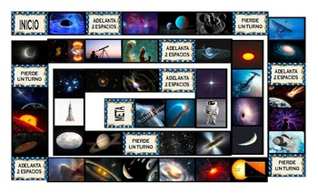 Space and Astronomy Spanish Legal Size Photo Board Game