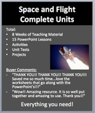 Space and Flight Complete Units - PowerPoint Lessons, Worksheets & Assessments