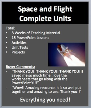 Space and Flight Complete Units - PowerPoint Lessons, Work