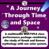 Space and Greek and Roman Mythology themed script for multiple classes