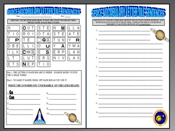 Space and Planets (4 Puzzle Worksheets)