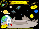 Solar System Planets Space Clip Art