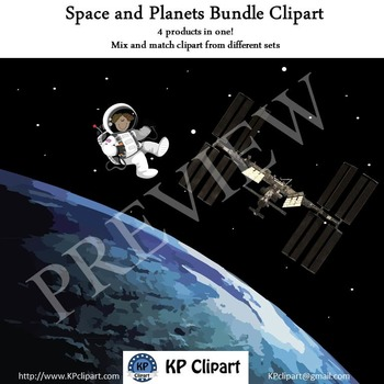 Space and Planets Clipart Bundle