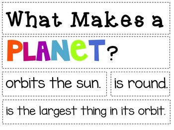 Space and Planets Math and Literacy Activities