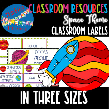 Space and Planets Theme Classroom Labels in THREE sizes small medium large
