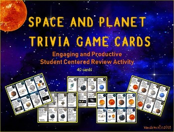 Space and Solar System Trivia Cards